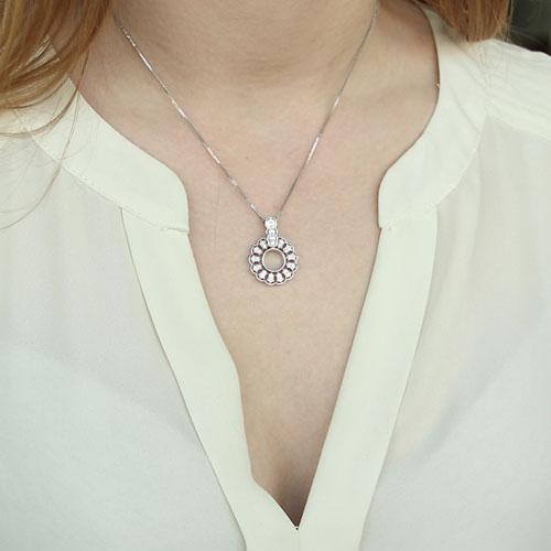 pendentif femme argent zirconium 8300141 pic4
