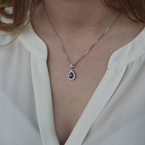 pendentif femme argent zirconium 8300144 pic4