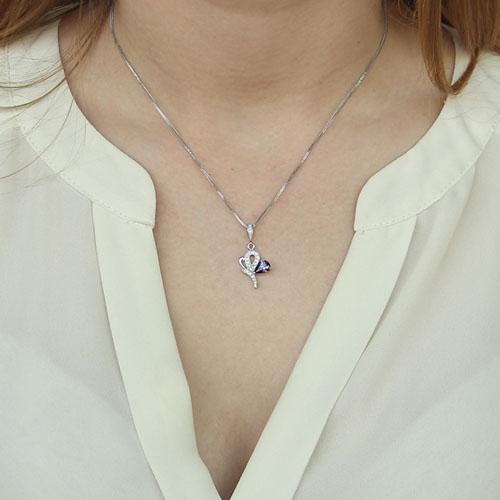 pendentif femme argent zirconium 8300145 pic4