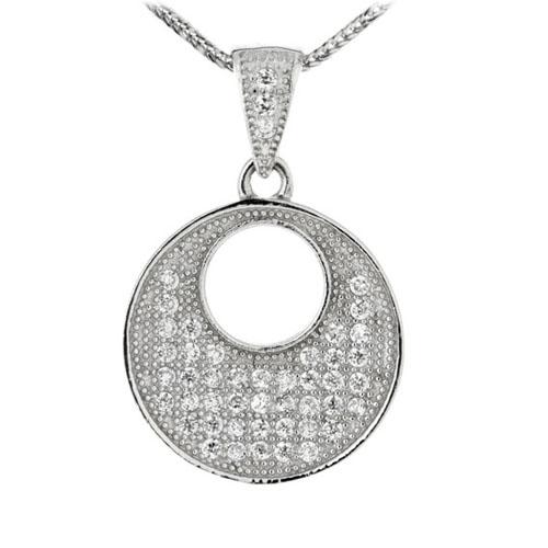 pendentif femme argent zirconium 8300146