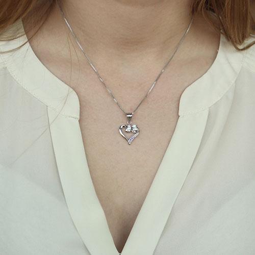 pendentif femme argent zirconium 8300148 pic4