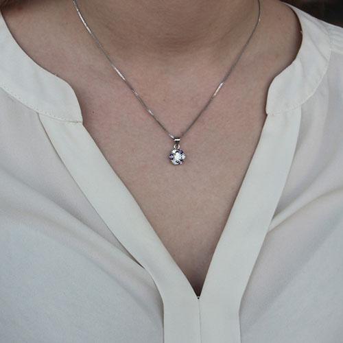 pendentif femme argent zirconium 8300149 pic4