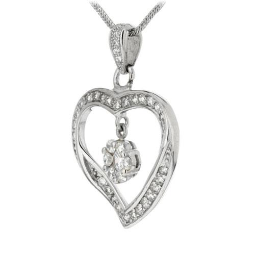 pendentif femme argent zirconium 8300152 pic2