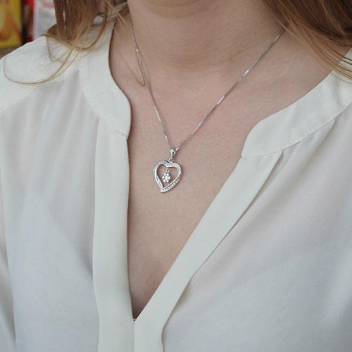 pendentif femme argent zirconium 8300152 pic4