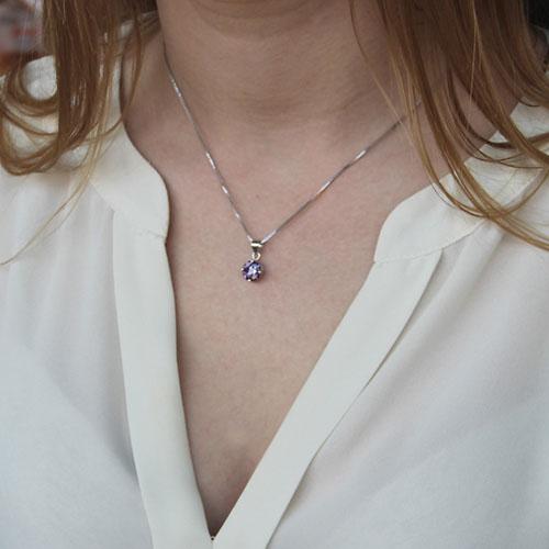 pendentif femme argent zirconium 8300154 pic4