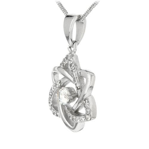 pendentif femme argent zirconium 8300157 pic2