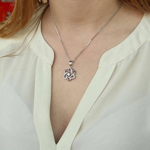pendentif femme argent zirconium 8300157 pic4