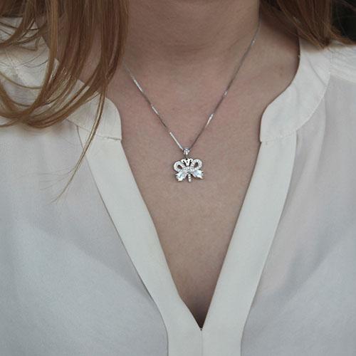pendentif femme argent zirconium 8300158 pic4