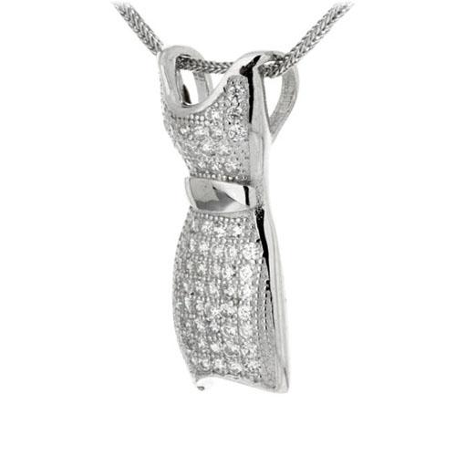 pendentif femme argent zirconium 8300159 pic2