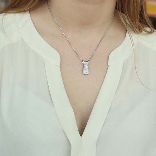 pendentif femme argent zirconium 8300159 pic4