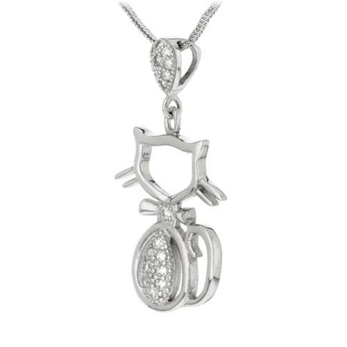 pendentif femme argent zirconium 8300161 pic2