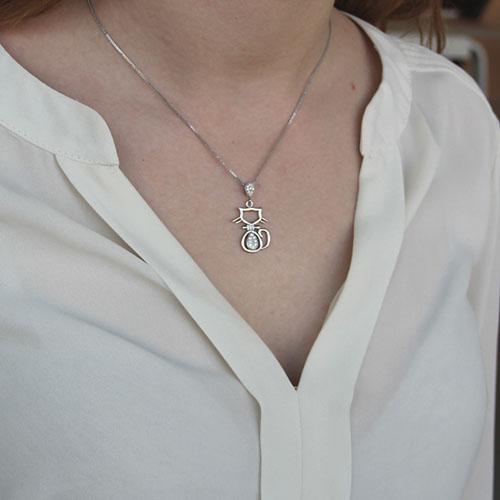 pendentif femme argent zirconium 8300161 pic4
