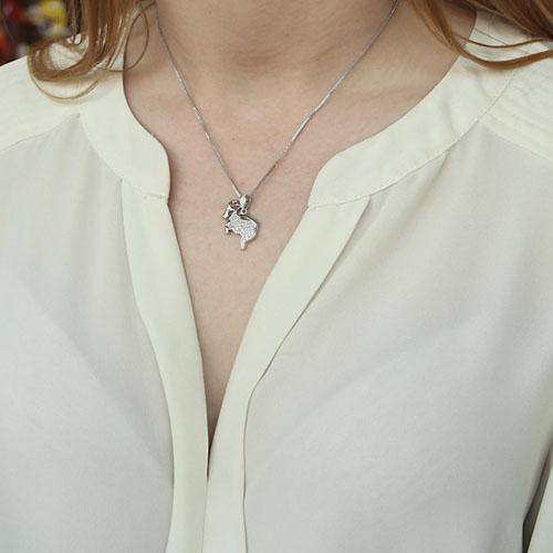 pendentif femme argent zirconium 8300165 pic4