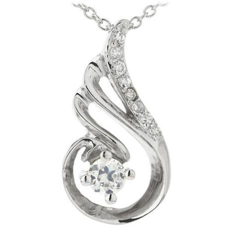 pendentif femme argent zirconium 8300170