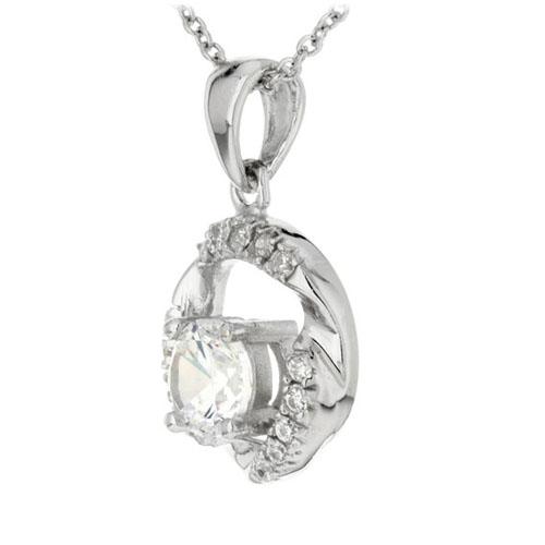 pendentif femme argent zirconium 8300178 pic2