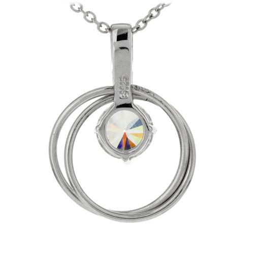 pendentif femme argent zirconium 8300179 pic3