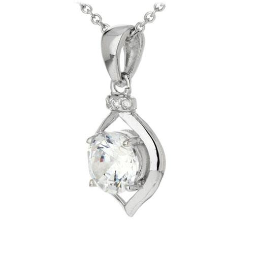 pendentif femme argent zirconium 8300181 pic2