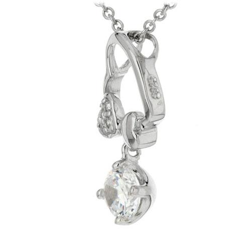pendentif femme argent zirconium 8300187 pic2