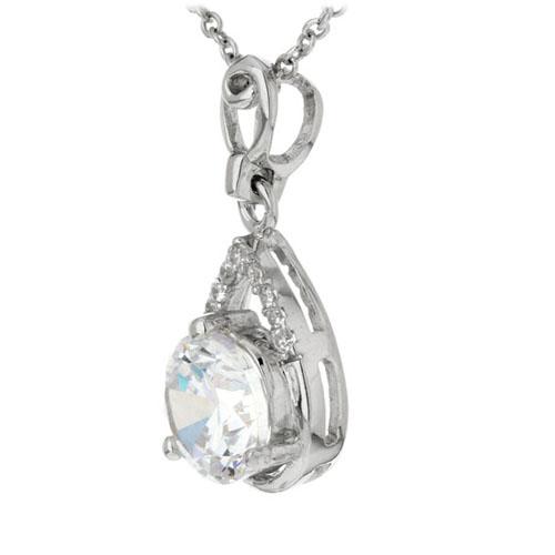 pendentif femme argent zirconium 8300189 pic2