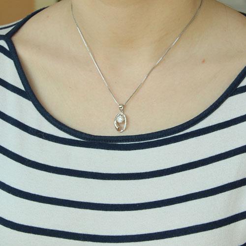 pendentif femme argent zirconium 8300191 pic4