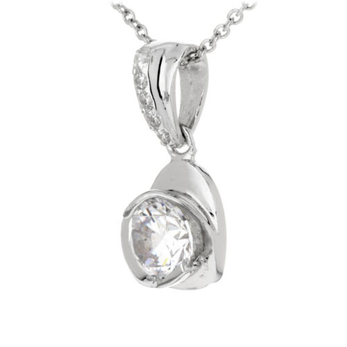 pendentif femme argent zirconium 8300193 pic2