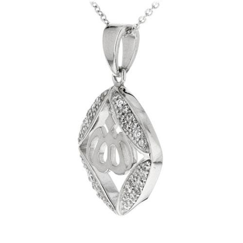 pendentif femme argent zirconium 8300199 pic2