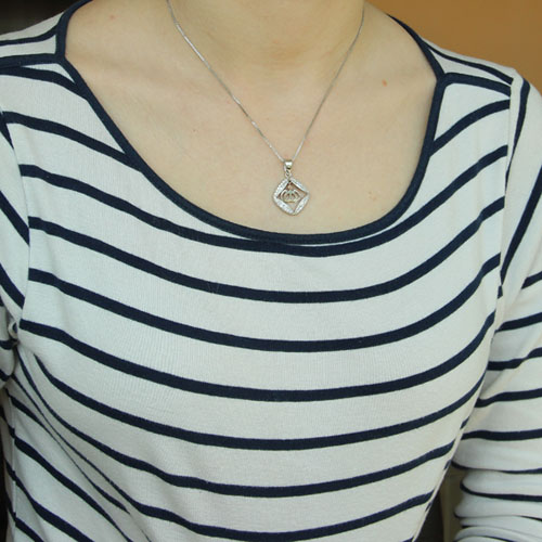 pendentif femme argent zirconium 8300199 pic4