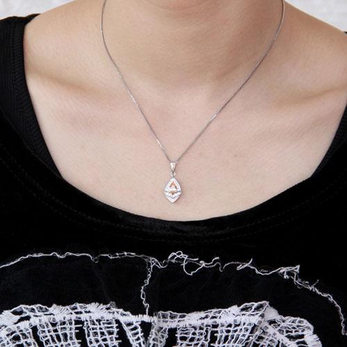 pendentif femme argent zirconium 8300376 pic4