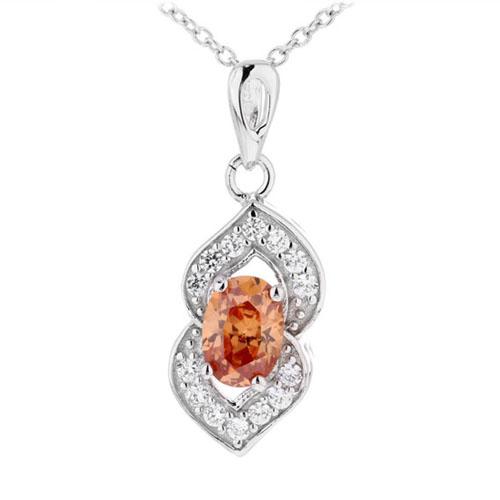 pendentif femme argent zirconium 8300383