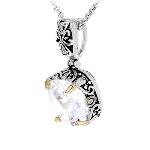 pendentif femme argent zirconium 8300414 pic2