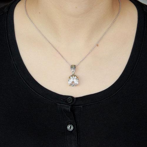 pendentif femme argent zirconium 8300414 pic4