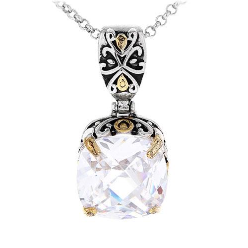 pendentif femme argent zirconium 8300414