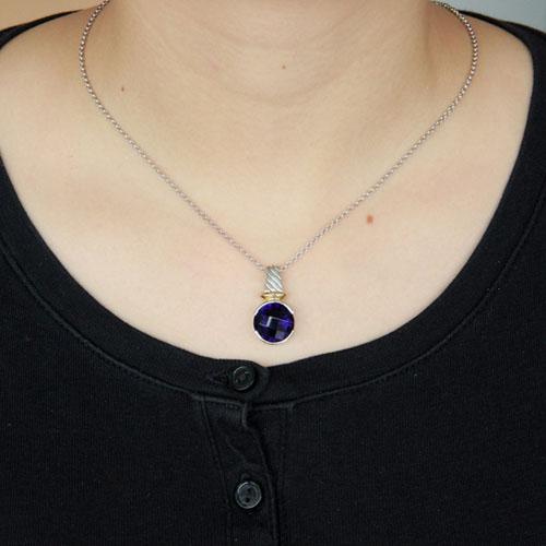 pendentif femme argent zirconium 8300416 pic4