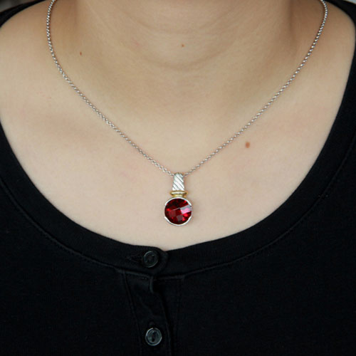 pendentif femme argent zirconium 8300417 pic4