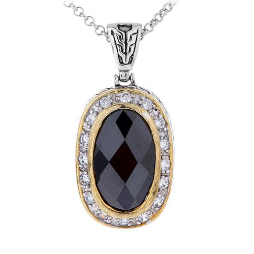 pendentif femme argent zirconium 8300424