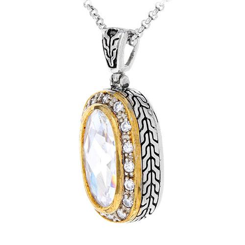 pendentif femme argent zirconium 8300425 pic2