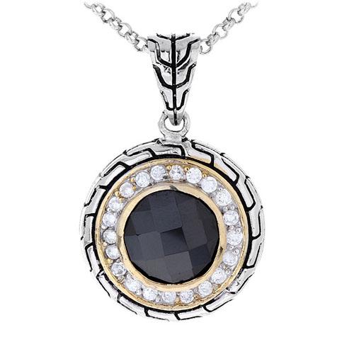 pendentif femme argent zirconium 8300426