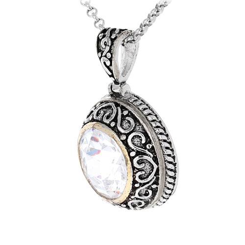 pendentif femme argent zirconium 8300427 pic2