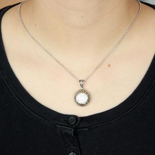 pendentif femme argent zirconium 8300427 pic4