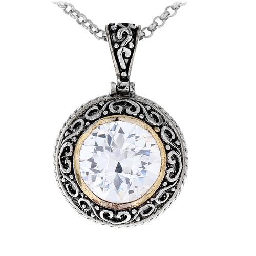 pendentif femme argent zirconium 8300427