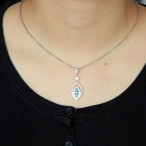 pendentif femme argent zirconium 8300430 pic4