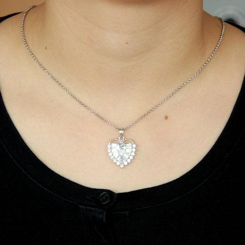 pendentif femme argent zirconium 8300431 pic4