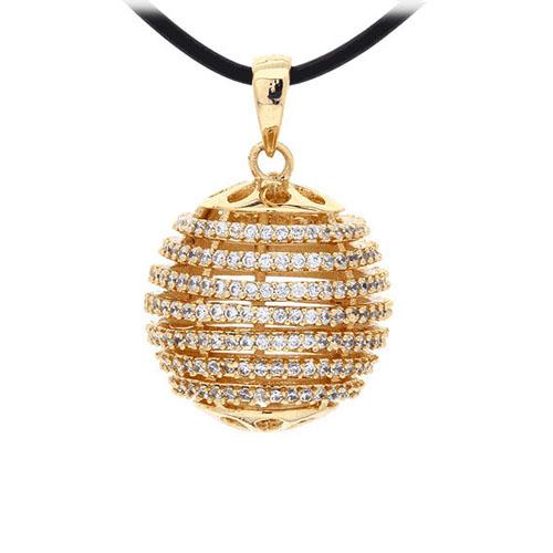 pendentif femme argent zirconium 8300435