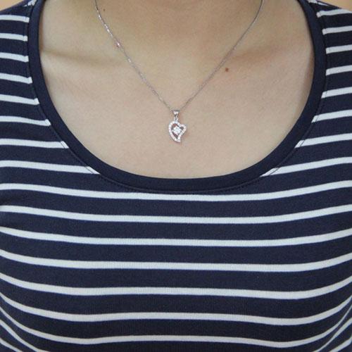 pendentif femme argent zirconium 8300436 pic4