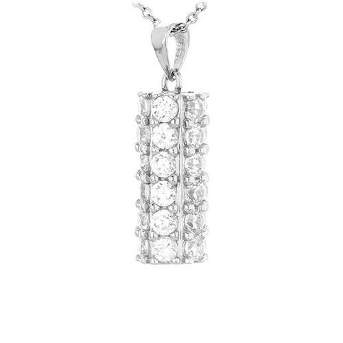 pendentif femme argent zirconium 8300438 pic2