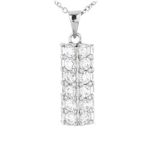pendentif femme argent zirconium 8300438 pic3
