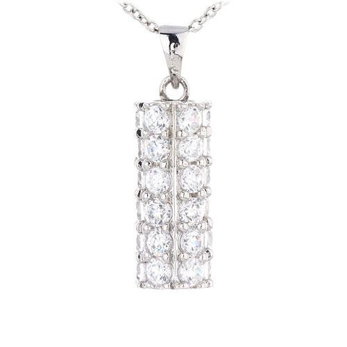 pendentif femme argent zirconium 8300438