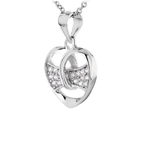 pendentif femme argent zirconium 8300445 pic2