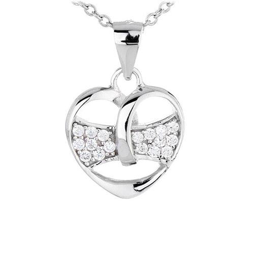 pendentif femme argent zirconium 8300445