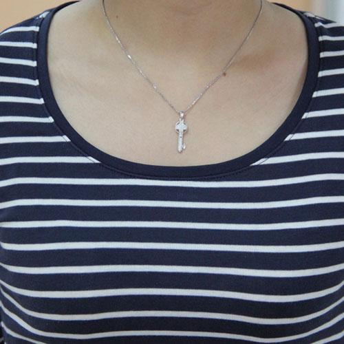 pendentif femme argent zirconium 8300449 pic4